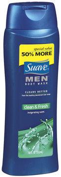 Suave® Men Clean & Fresh Body Wash Squeeze Bottle