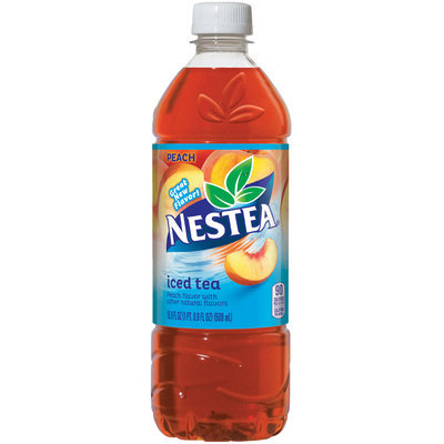NESTEA Iced Tea, Peach 16.9-ounce plastic bottles