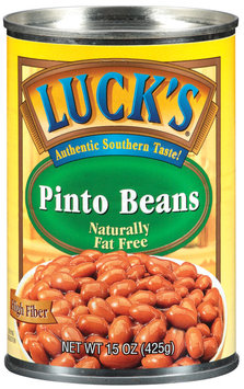 Lucks Naturally Fat Free Pinto Beans 15 Oz Can