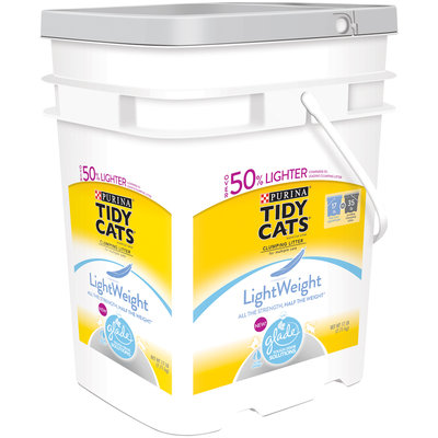 Purina Tidy Cats LightWeight Clumping Cat Litter with Glade Tough Odor Solutions 17 lb. Pail