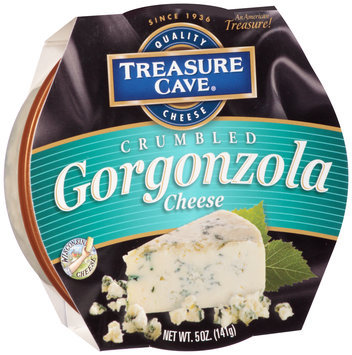 Treasure Cave® Crumbled Gorgonzola Cheese 5 oz. Sleeve