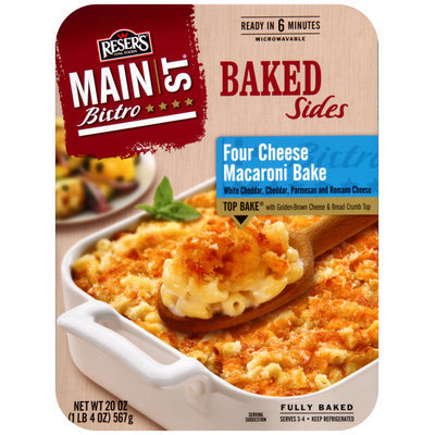 Reser's Fine Foods® Main St. Bistro® Four Cheese Macaroni Bake Baked Sides 20 oz. Tray