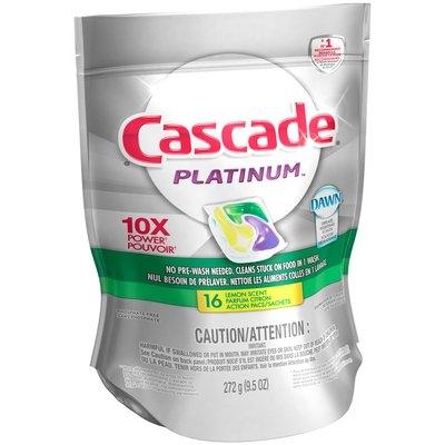Cascade® Platinum™ ActionPacs™ Dishwasher Detergent Lemon Burst 16 Ct
