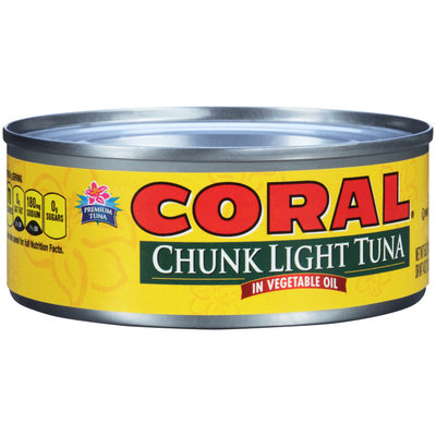 Coral® Chunk Light Tuna in Vegetable Oil 5 oz. Can