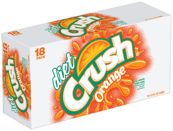CRUSH Diet Orange 12 Oz Soda 18 PK CANS