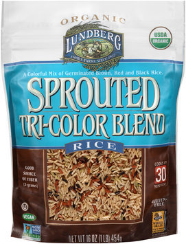 Lundberg Family Farms® Organic Sprouted Tri-Color Blend Rice 16 oz. Pouch