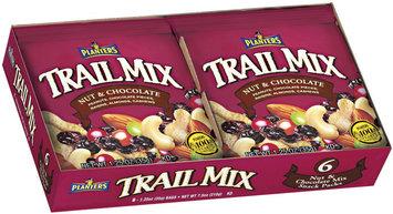 Planters Nut & Chocolate 1.25 Oz Snack Packs Trail Mix 6 Ct Box