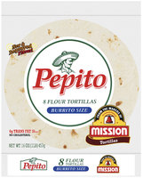 Pepito Flour Burrito Size 16 Oz Tortillas 8 Ct Bag