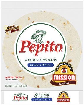 Pepito Flour Burrito Size 16 Oz Tortillas 8 Ct Bag