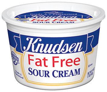 Knudsen Fat Free Sour Cream 16 Oz Tub