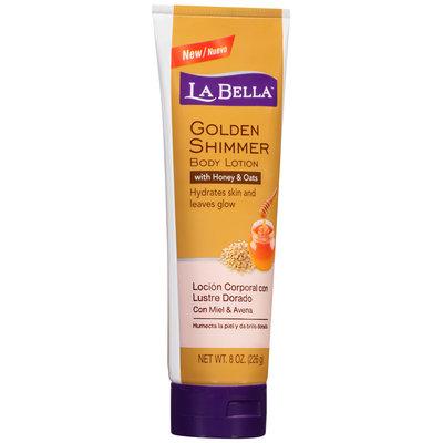 La Bella™ Golden Shimmer Body Lotion with Honey & Oats 8 oz. Tube
