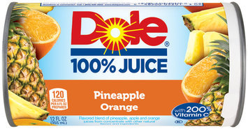 Dole® Pineapple Orange Juice 12 fl. oz. Can