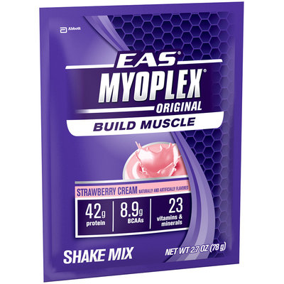 EAS Myoplex Original Strawberry Cream 2.7 Oz Nutrition Shake Mix 20 Ct Box