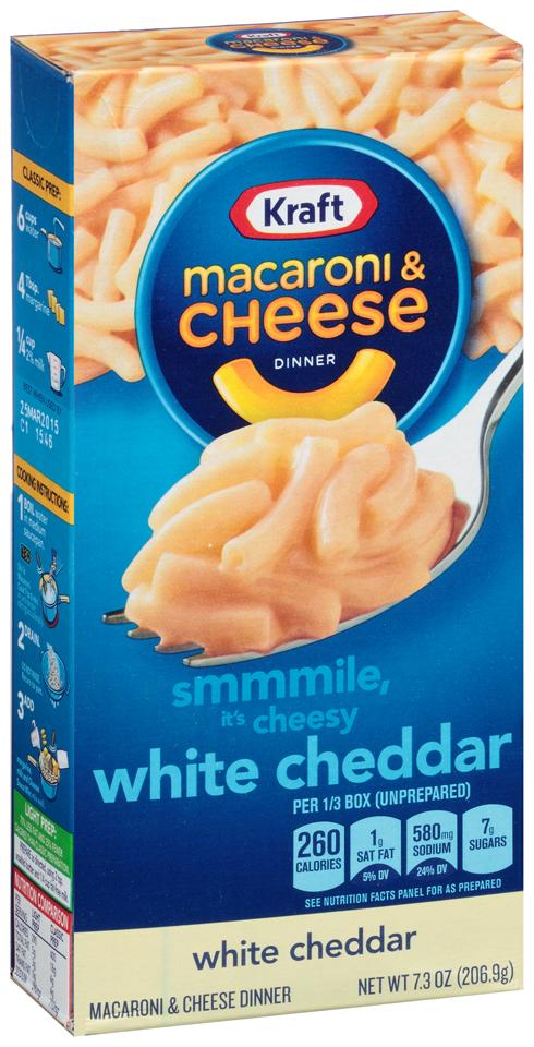 Kraft White Cheddar Macaroni & Cheese Dinner 7.3 oz. Box