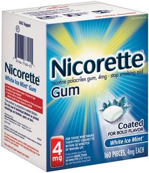 Nicorette® White Ice Mint® Stop Smoking Gum 4mg 160 ct Box