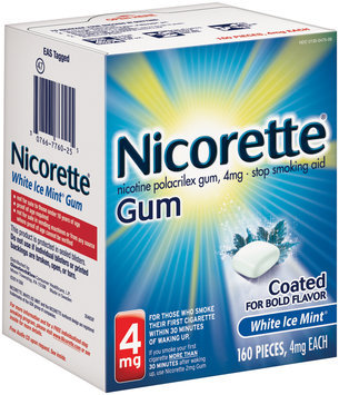 Nicorette® White Ice Mint® Stop Smoking Gum 4mg 160 ct Box