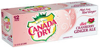 Canada Dry Diet Cranberry Ginger Ale 12-12 Oz Cans