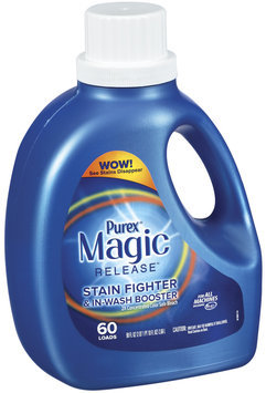 Purex 2 Color Safe Bleach Magic Release Stain Fighter & In-Wash Booster Color Safe Bleach 90 Oz Jug