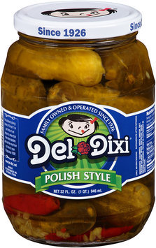 Del Dixi® Polish Style Pickles 32 fl. oz. Jar