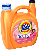 Tide HE Turbo Clean Plus Downy April Fresh Scent Liquid Laundry Detergent 156 fluid ounces 81 loads