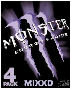 Monster Mixxd 16 Oz Secondary Energy + Juice Drink 4 Pk Cans