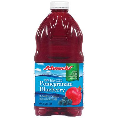 Schnucks 100% Pomegranate Blueberry Juice 64 Oz Plastic Bottle