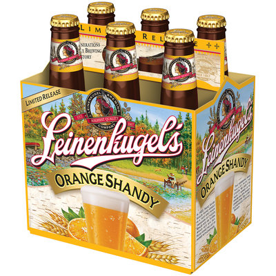 Leinenliugel's Lemon Summer Shandy Traditional Weiss Beer with Lemonade and Blackberry Juice 6-12 fl. oz. Bottle