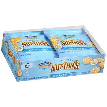 Blue Diamond® Mini Nut-Thins® Almond Hint of Sea Salt Nut & Rice Cracker Snacks 6-0.74 oz. Packs