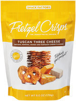 Pretzel Crisps® Crackers Tuscan Three Cheese