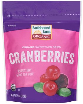 Earthbound Farm® Organic Sweetened Dried Cranberries 4 oz. Pouch