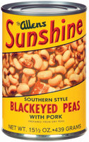The Allens Sunshine W/Pork Blackeyed Peas  15.5 Oz Can
