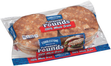 Cobblestone Bread Co™ 100% Whole Wheat Flatbread Rounds 12 oz. Bag