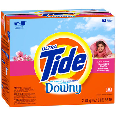 Tide Ultra Plus a Touch of Downy April Fresh Scent Powder Laundry Detergent 98 oz. Box