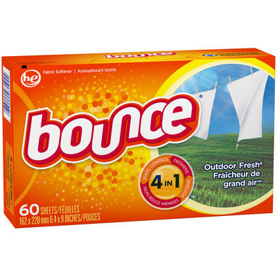 Bounce Fabric Softener Dryer Sheets Outdoor Fresh 60CT