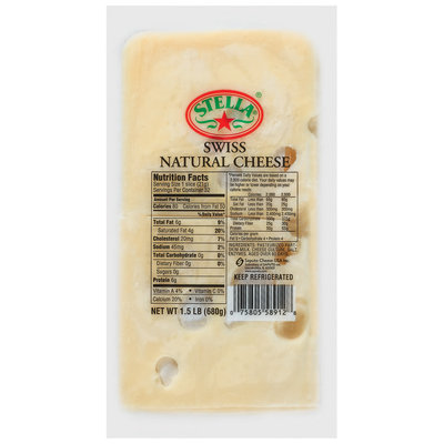 Stella® Swiss Slices Cheese 1.5 Lb Pack