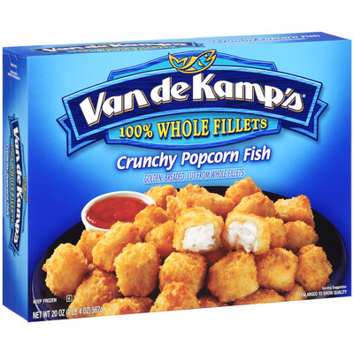 Van de Kamp's® 100% Whole Fillets Crunchy Popcorn Fish 20 oz. Box