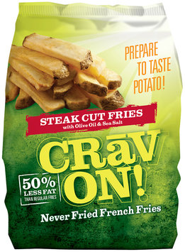 CRAV ON! Steak Cut Never Fried French Fries 32 Oz Bag