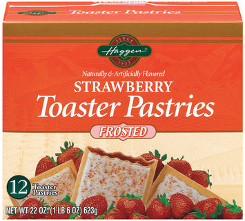 Haggen Strawberry Frosted 12 Ct Toaster Pastries 22 Oz Box