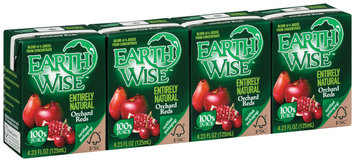Earth Wise Entirely Natural Orchard Reds 4.23 Oz 100% Juice 4 Ct Aseptic Pk