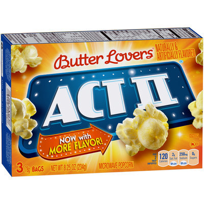 Act II® Butter Lovers® Microwave Popcorn
