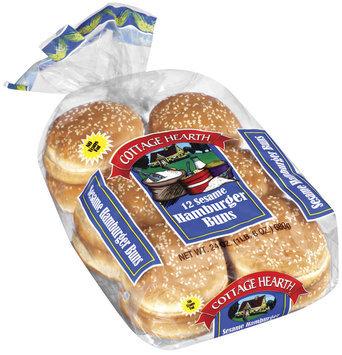 Cottage Hearth Sesame 12 Ct Hamburger Buns 24 Oz Bag