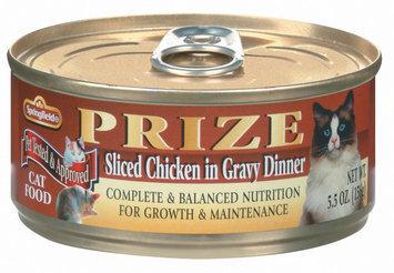 Springfield Prize Sliced Chicken In Gravy Dinner Cat Food 5.5 Oz Can
