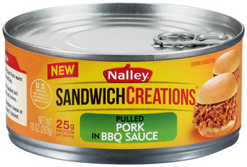 Nalley® Sandwich Creations™ Pulled Pork in BBQ Sauce 10 oz. Can
