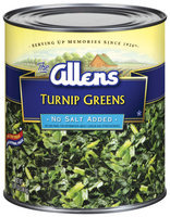 The Allens No Salt Added Turnip Greens 101 Oz Can