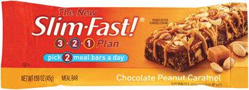 Slim-Fast 3-2-1 Meal Bars Chocolate Peanut Caramel Meal Bar 1.58 Oz Wrapper