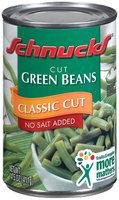 Schnucks Classic Cut No Sugar Added Cut Green Beans 14.5 Oz Can