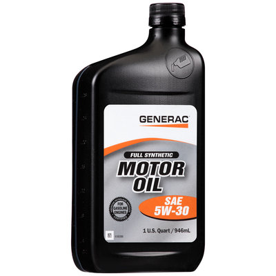Generac® SAE 5W-30 Full Synthetic Motor Oil 1 qt. Bottle
