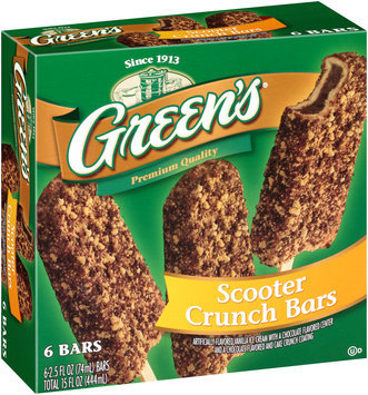 Green's® Scooter Crunch Bars 6-2.5 fl. oz. Bars