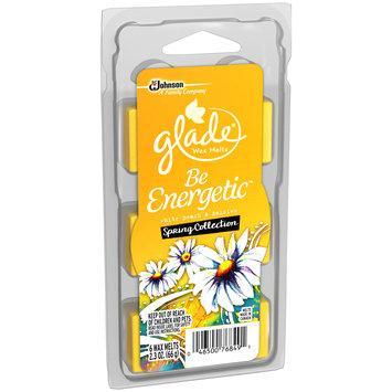 Glade® White Peach & Daisies Be Energetic™ Spring Collection Wax Melts Refill 6 ct Clamshell