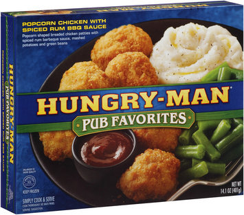 Hungry-Man® Pub Favorites Popcorn Chicken with Spiced Rum BBQ 14.1 oz. Box
